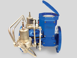 flow control valve combined with water meter