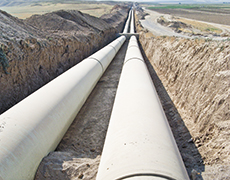 water transmission pipeline